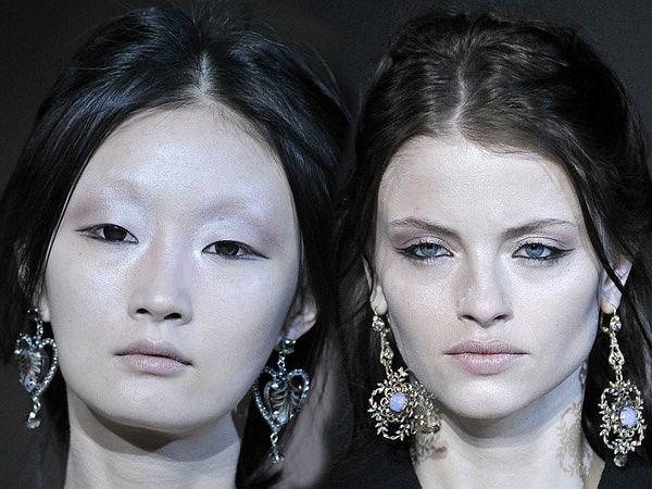 Trupie makijaże na pokazie Giorgio Armaniego