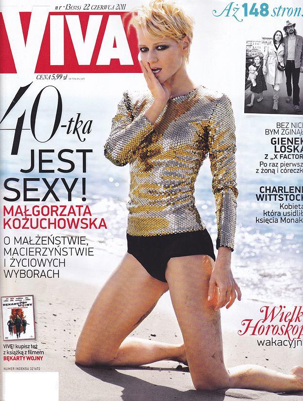 40-letnia Małgorzata Kożuchowska w najnowszym numerze 'Vivy!'