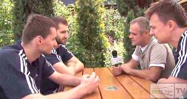 Michał Ruciak, Marcin Możdżonek i Krzysztof Ignaczak w rozmowie z Krzysztofem Wanio