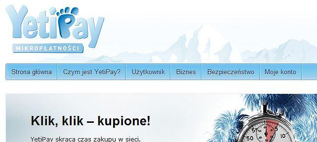 YetiPay - mikropłatności