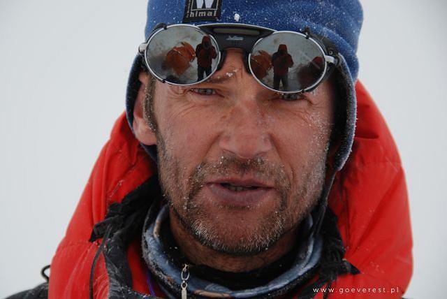 Darek Załuski w czasie Ama Dablam Expedition 2008