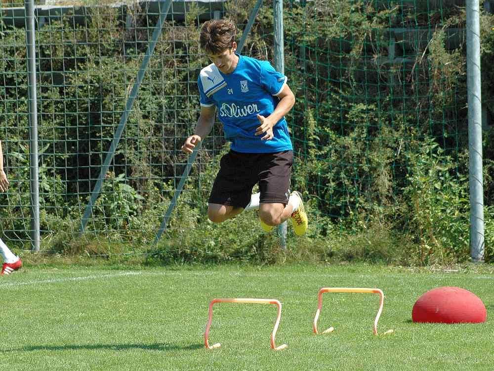 Aleksandar Tonew podczas treningu na zgrupowaniu Lecha w Miesbach