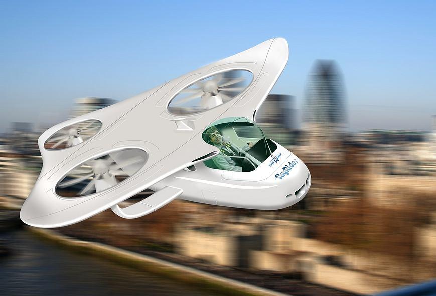 Tak mógłby wyglądać Osobisty Pojazd Powietrzny