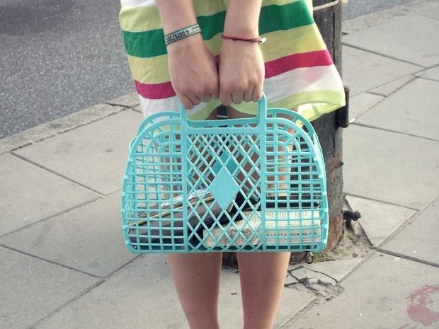 sukienka - Zara, koszyk - H&M