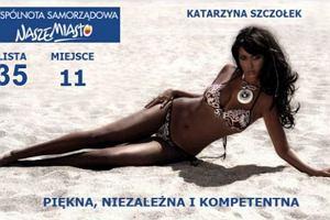 Katarzyna Sara May Szczołek - plakat wyborczy.