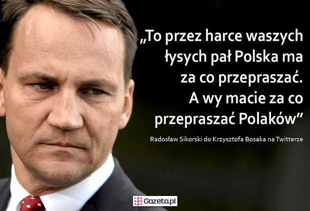 Minister Sikorski ostro wypowiedział się w wymianie zdań o zadymach 11 listopada