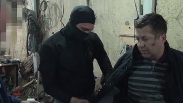Nagranie z zatrzymania Polaka Mariana R. przez rosyjskie FSB. - fot. youtube.com/RT