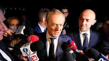 3.07.2021, Warszawa, Donald Tusk i Borys Budka na Radzie Krajowej Platformy Obywatelskiej