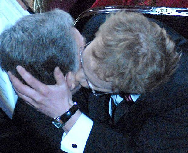 Maciej Stuhr, Jerzy Trela, pocałunek