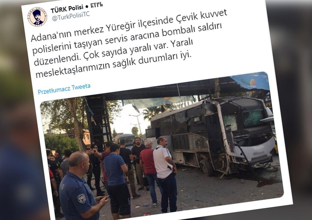 Turcja: Atak bombowy w Adanie