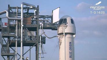 Jeff Bezos leci w kosmos. Zobacz start rakiety New Shepard na żywo [TRANSMISJA]
