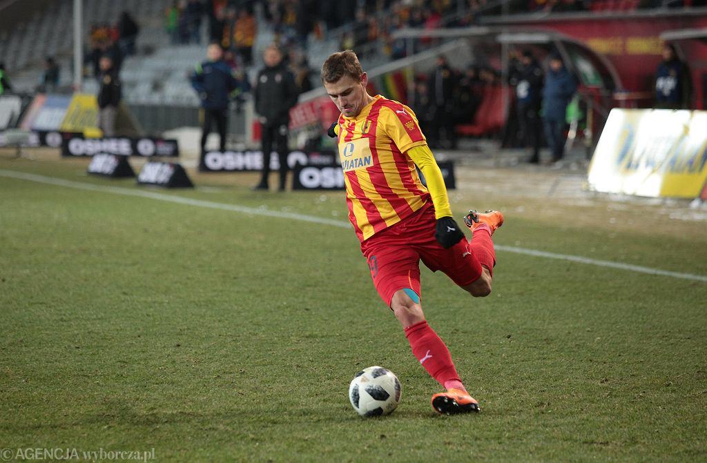 Ken Kallaste podczas meczu Korona Kielce - Górnik Zabrze