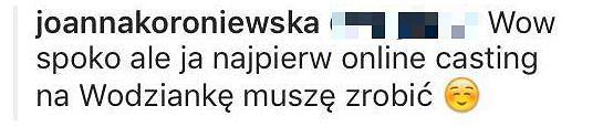 Komentarz Joanny Koroniewskiej