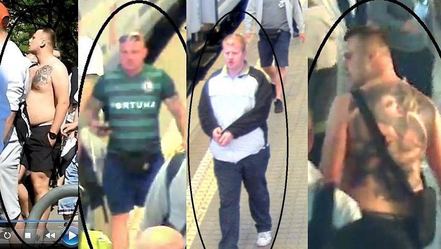 Policja poszukuje mężczyzn odpowiedzialnych za atak na policjantów na dworcu w Kutnie
