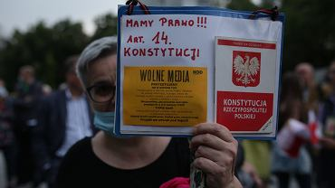 Protest 'wolne media'