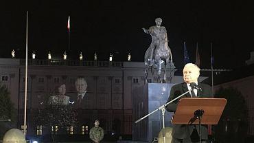 Jarosław Kaczyński na 96. miesięcznicy smoleńskiej