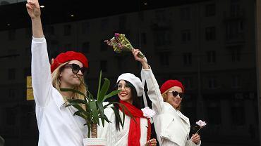 Protesty po sfałszowanych przez Łukaszenkę wyborach prezydenckich. Mińsk, 10 października 2020