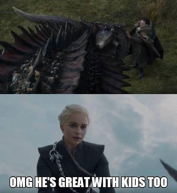 Jon spotyka się ze Smokiem