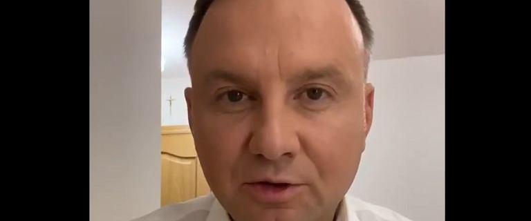 Duda zakażony koronawirusem: Czuję się dobrze. Nie odczuwam żadnych symptomów