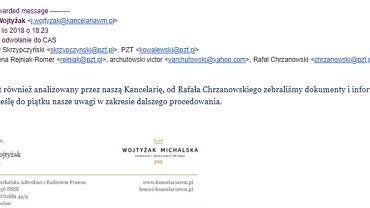 Mail od kancelarii Wojtyżak Michalska
