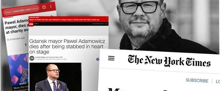 ''Paweł Adamowicz nie żyje''. Zagraniczne media informują o polskiej tragedii