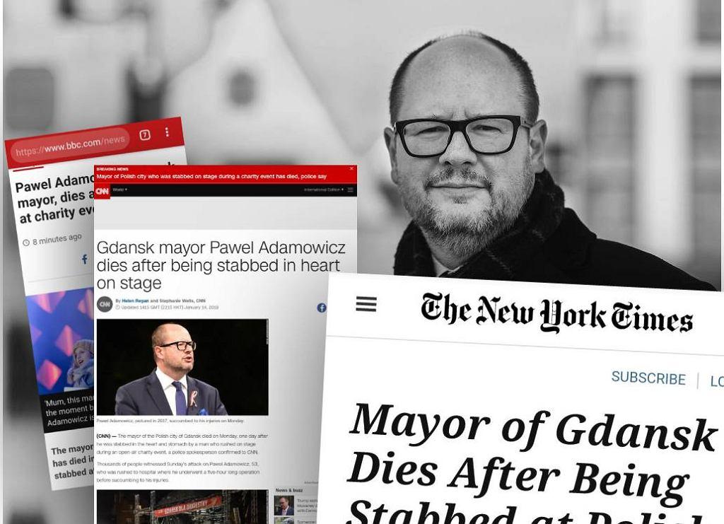 Światowe media o śmierci Adamowicza