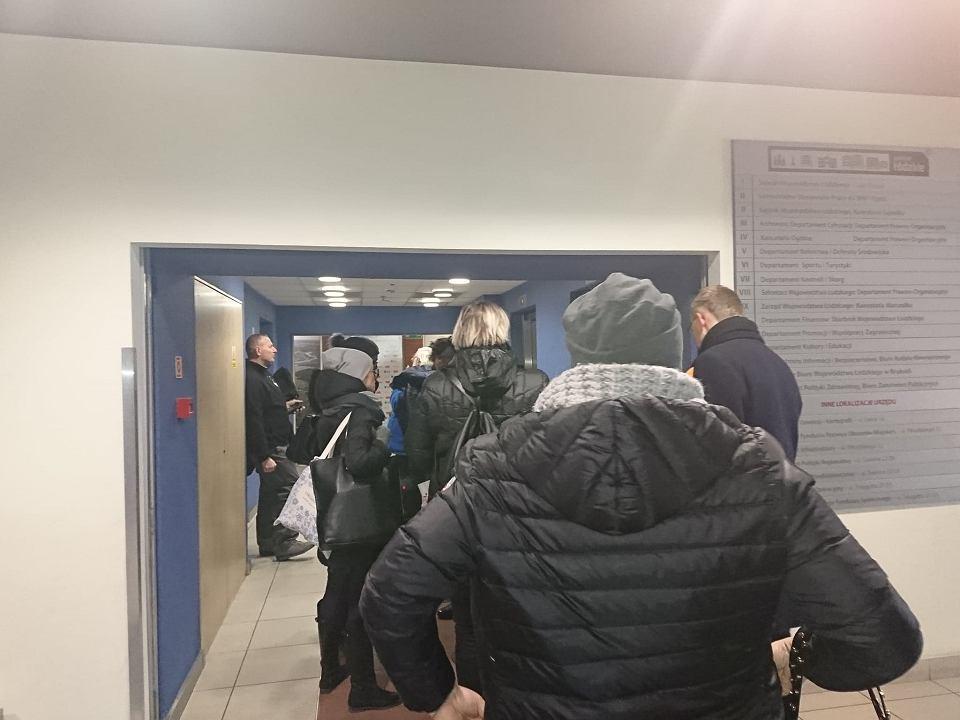 Urząd Marszałkowski Województwa Łódzkiego wkrótce po ewakuacji
