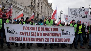 .Protest rolnikow pod haslem Oblezenie Warszawy