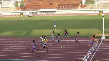 5 października. Yoshide Kiryu (z prawej) wygrywa bieg z czasem 10,21. W weekend poprawił wynik o 0,02 sek
