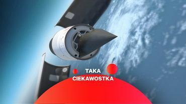 Grafika przedstawiająca amerykański testowy szybowiec hipersoniczny HTV-2
