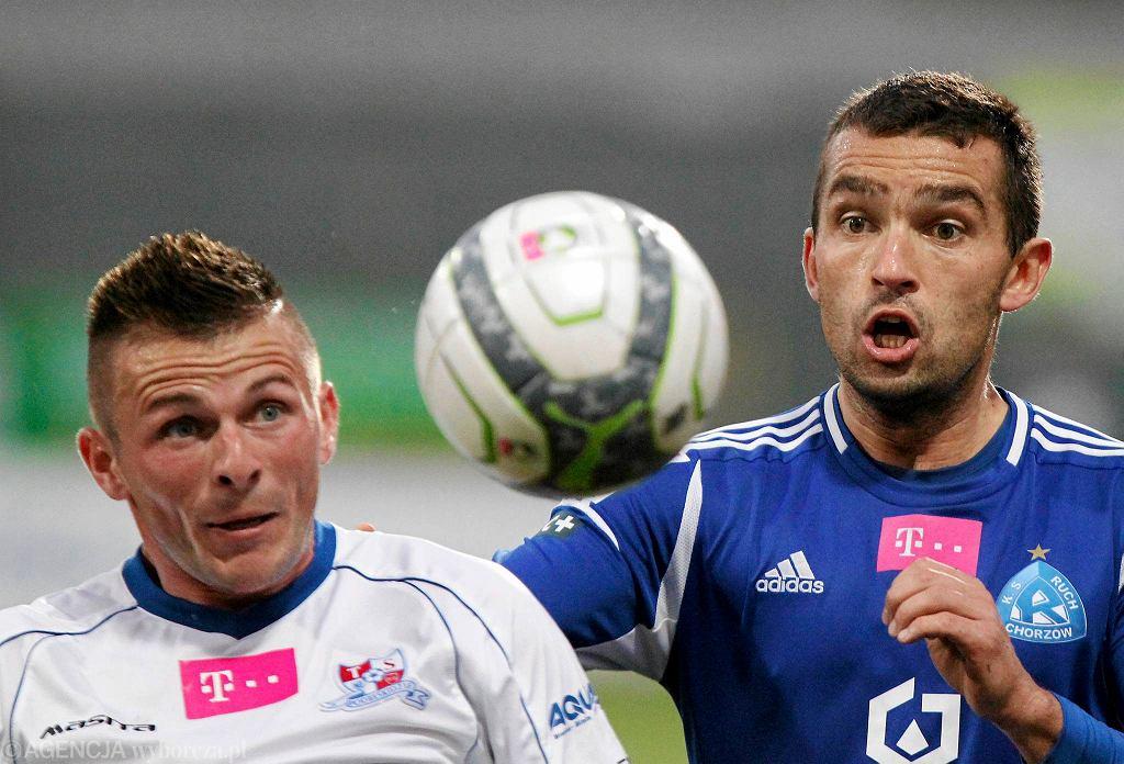 ŁMarcin Wodecki (z lewej) wzmocnił GKS Tychy