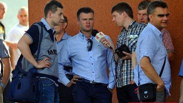 Marcin Jaroszewski (w środku), prezes Zagłębia Sosnowiec