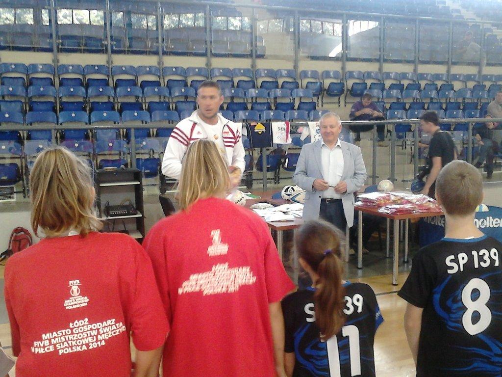Trening z Marcinem Prusem w ramach projektu Siatkarska Łódź