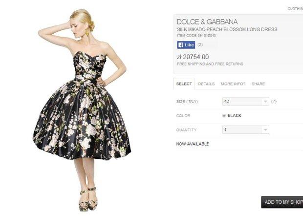 Sukienka od od Dolce&Gabbana