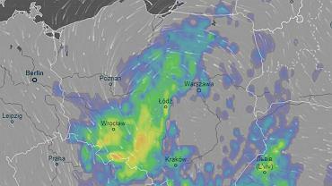 Pogoda. Burze w centralnej i południowej polsce