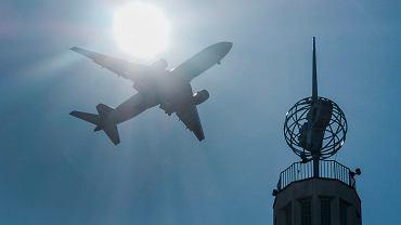 Samolot w drodze na poznańską Ławicę