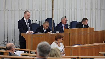 64. posiedzenie Senatu. Przemawia Paweł Mucha, prezydencki minister
