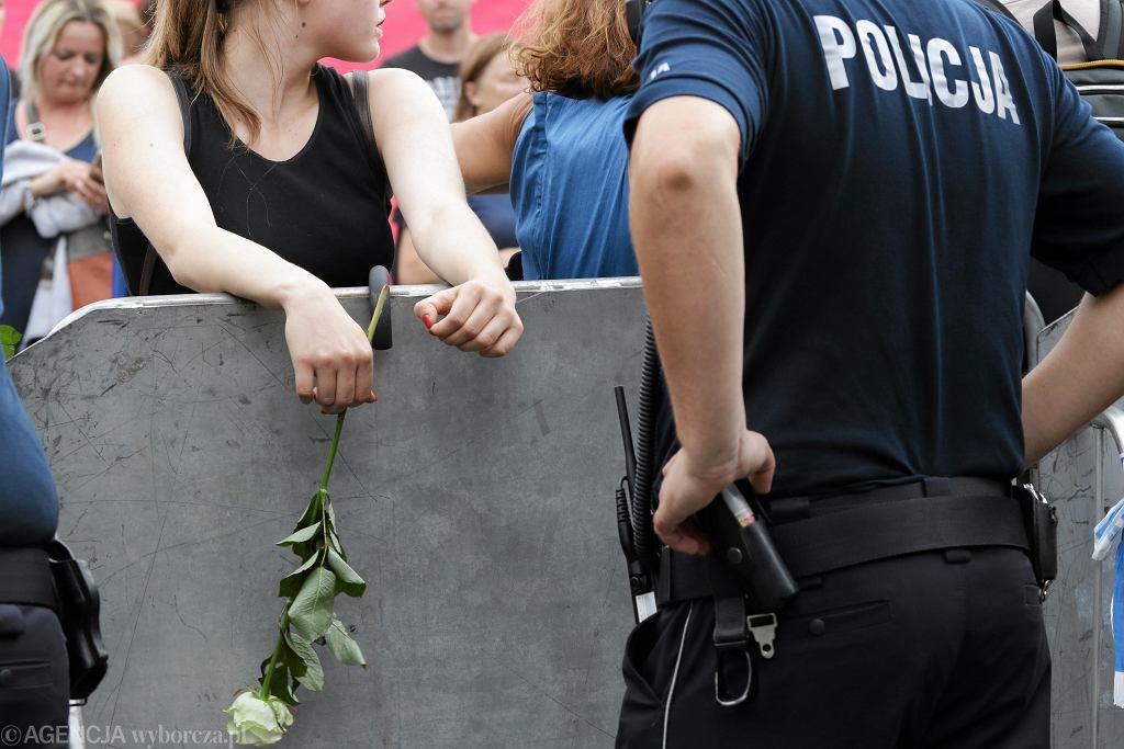 Protesty w obronie niezależności sądów w lipcu 2017 roku