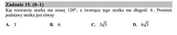 Matura poprawkowa 2016 matematyka, Zad. 15