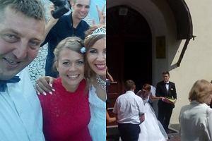 Adam Kraśko na ślubie Katarzyny Gucwy