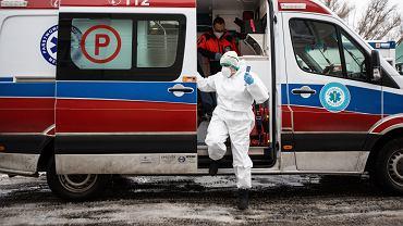 Pandemia koronawirusa. Samodzielny Publiczny Szpital Kliniczny Nr 4. Lublin, 13 stycznia 2021