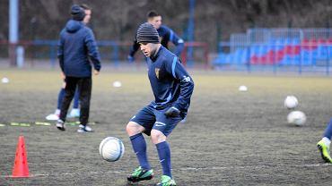 Patryk Małecki na treningu Pogoni Szczecin