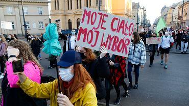 Łódź, protest przeciwko zaostrzeniu prawa aborcyjnego w Polsce