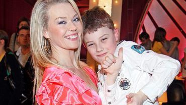 Tamara Arciuch z synem Krzysztofem podczas zdjęć do 'Tańca z gwiazdami'