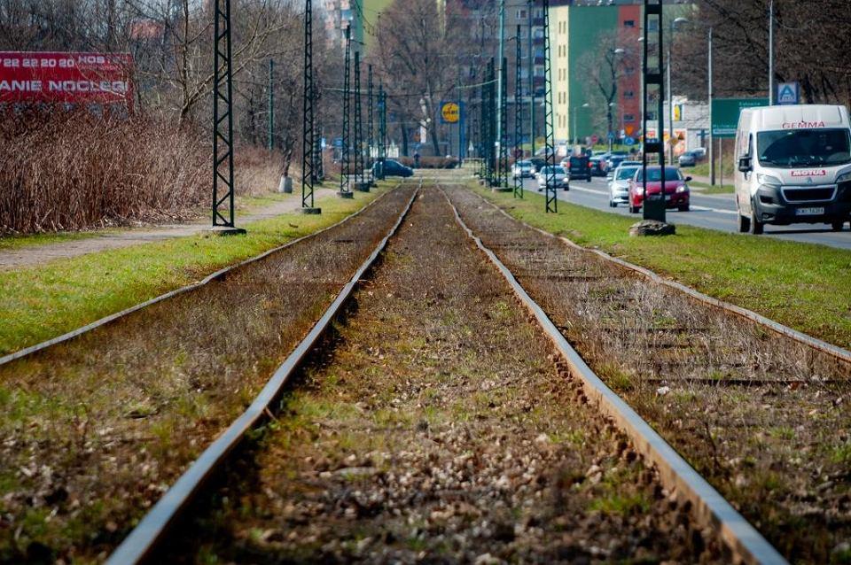 Torowisko przy ul. Andersa w Sosnowcu