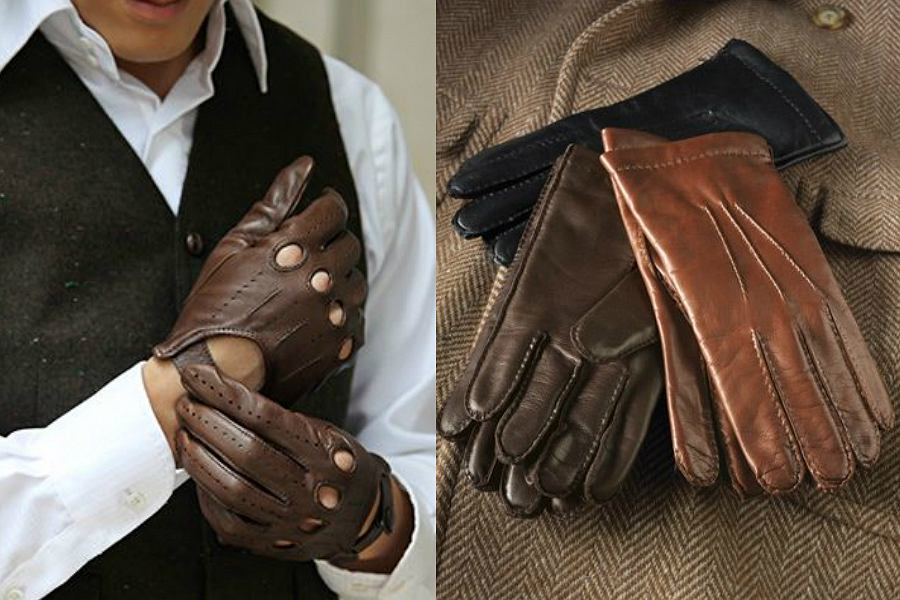 2074dc12fc2f21 Skórzane rękawiczki męskie: modny dodatek do zimowych stylizacji