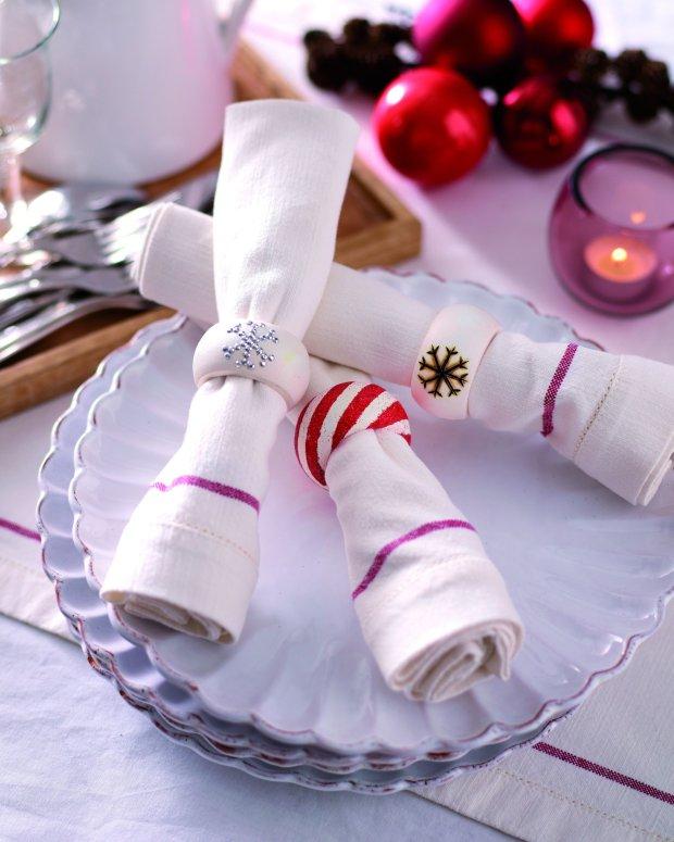 Świąteczne obrączki na serwetki