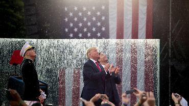 Prezydent Donald Trump podczas obchodów Święta Niepodległości Stanów Zjednoczonych.