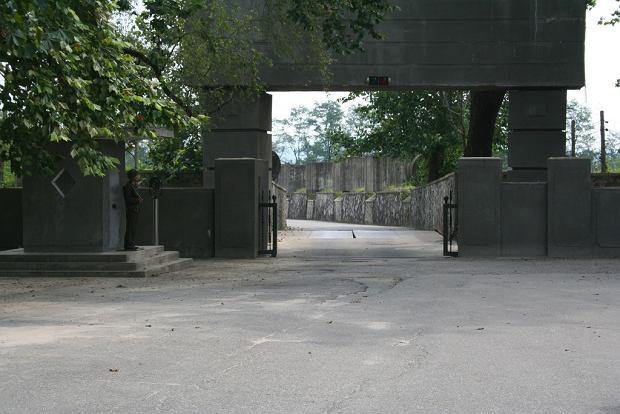 Przygotowana do wysadzenia blokada na terytorium Korei Północnej
