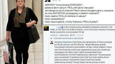 """Pawłowicz odpowiada """"obrońcom emerytowanej staruszki"""": Jesteście trollami. Jak ona!"""